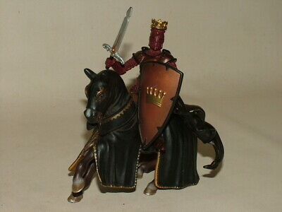 £3 • Buy Vintage Schleich 2003 Knights Horse & Papo 2007 Royal King & Sword Action Figure