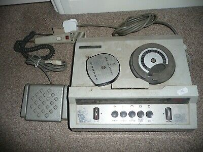 £14.99 • Buy Vintage Grundig Stenorette L Dictation Machine With Microphone And Foot Pedal!