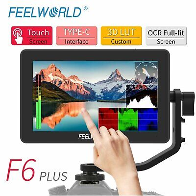 AU390.59 • Buy FEELWORLD F6 PLUS 4K Monitor 5.5 Inch On Camera DSLR Field Monitor 3D LUT Touch