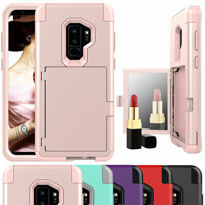 AU16.16 • Buy For Samsung Galaxy S8 S9 Plus 360° Hybrid Shockproof Mirror Wallet Case Cover