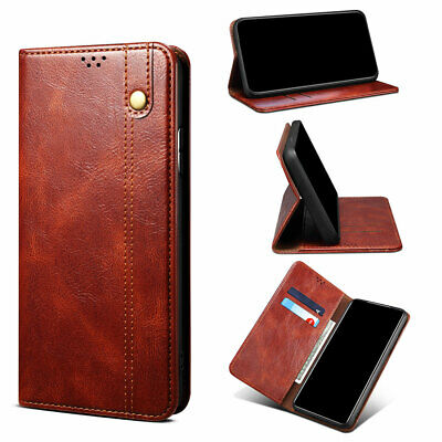 AU12.49 • Buy Leather Wallet Case For IPhone 13 12 11 Pro Max Mini X XR XS 8 7 Plus TPU Cover