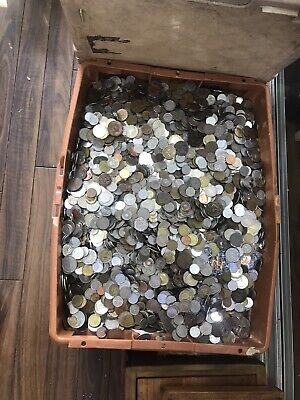 £20 • Buy BULK COLLECTION 1.8kg  1800g Uk &  MIXED FOREIGN  WORLD COINS, JOB LOT AMAZING
