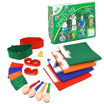 £14.99 • Buy Party Sports Day Set Racing Party Garden Game With Egg Spoon Race And Jump Sacks