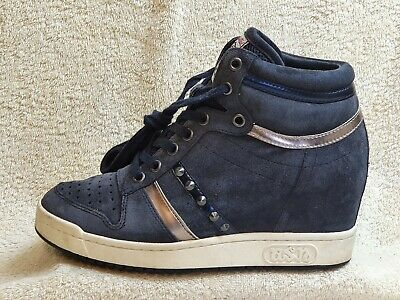 £25.97 • Buy Ash Limited Ladies Wedge Trainers Suede Navy/White/Silver UK 6 EUR 39