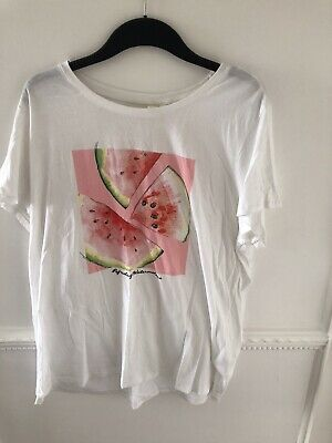£1.50 • Buy H&M LOGG White T-shirt With Watermelon Motif Size XL. Worn Once