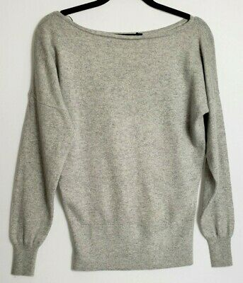 £24.99 • Buy M&s 100% Pure Cashmere Jumper S Loose Fit Light Grey 320