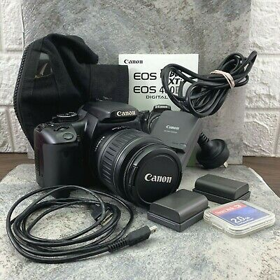 £80.09 • Buy Canon EOS 400D 10MP Digital SLR Camera - Black (Kit With EF-S 18-55mm II FAULTS