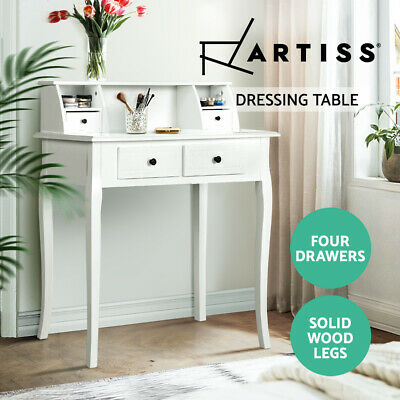 AU109.95 • Buy Artiss Dressing Table Console Table Jewellery Cabinet 4 Drawers Wooden Furniture
