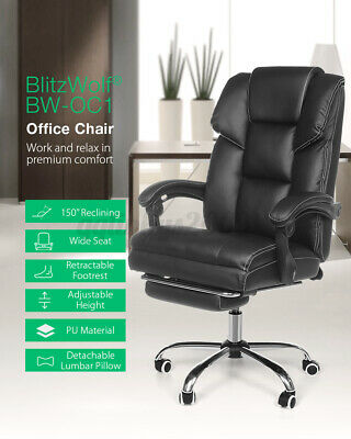 AU123.99 • Buy BlitzWolf Office Chair Executive Gaming Chairs Swivel Recliner Leather Footrest
