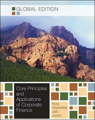 £5.49 • Buy Core Principles And Applications Of Corporate Finance By Jaffe, Jeffrey Book The