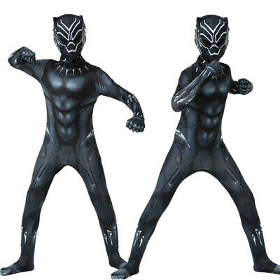 £13.99 • Buy Superhero Black Panther Dress Youth Kid Halloween Cosplay Party Costume Outfits