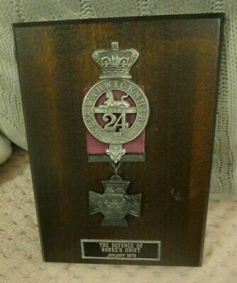 £20 • Buy The Defence Of Rorke's Drift January 1879 Plaque 2nd Warwickshire Egypt Medal
