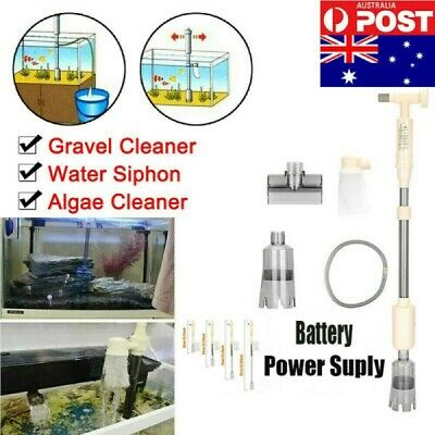 AU18.79 • Buy Fish Tank Cleaner Pump Siphon Cleaning Tool Water Sand Gravel Set 2 Power Supply