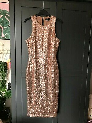 £14 • Buy New Look Gold Sequined Midi Dress Size 12