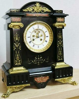 £995 • Buy Impressive Antique French 8 Day Striking Ornate Marble & Bronze Mantle Clock