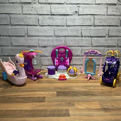£19.95 • Buy My Little Pony Vehicle Bundle Helicopter Carriage Boat Plus Vintage Throne