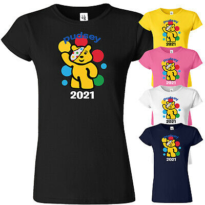 £8.99 • Buy Spotty Pudsey Bear T Shirt Children In Need Dotty Spot Ladies Top Tee Charity