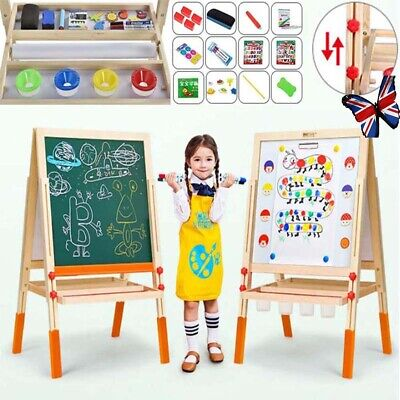 £29.99 • Buy Adjustable Wooden Magnetic Art Easel Double-Sided Painting Board W/ Accessories