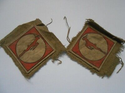£20 • Buy 13 Corps   Pair Of Service Worn 1st Pattern Printed 2ww  Cloth Formation Signs