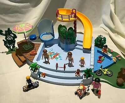 £12.99 • Buy Playmobil Plastic Toy - Seaside Pool / Park Play Set With Figures & Accessories