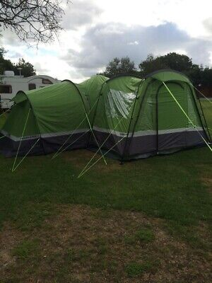 £350 • Buy Hi Gear Zenobia Elite 6 Tent With Porch, Carpet And Footprint Used Once.