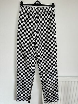 £3 • Buy Nicely Made Black & White Check, Chef Trousers By Simon Jersey Size XS.Brand New