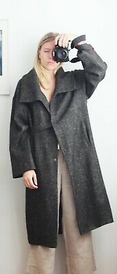 £181.86 • Buy Annette Gortz Mex Gray Wool Oversized Coat With Pockets Size M/L/40