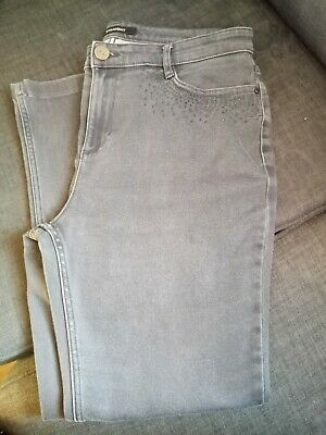 £1.20 • Buy M&S Grey Short Leg Jeans Size 14 With Sequins