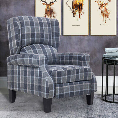 £171.29 • Buy Wing Back Recliner Chair Fireside Fabric Reclining Armchair Sofa L