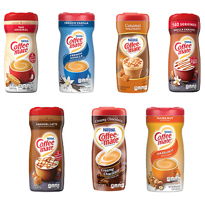£8.99 • Buy Coffee Mate Powder Creamer + Sugar Free 7 Different Flavours USA Import 425g