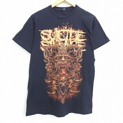 £95.40 • Buy Secondhand Thrift Short Sleeve Rock T-Shirt Band Suicide Silence Cotton Crew