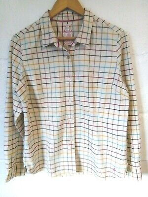 £2.99 • Buy Joules Cream Check Shirt Size 14