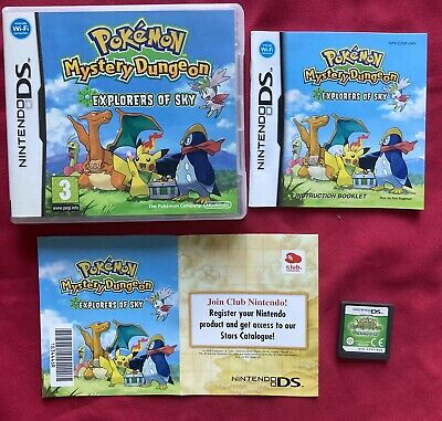 $63.22 • Buy Nintendo DS Pokemon Mystery Dungeon Explorers Of Sky Boxed Manual Unused Pin