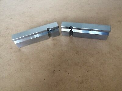 £15 • Buy Matching Engineers Parallel V Bars Blocks 115 X 37 X 17mm Approx