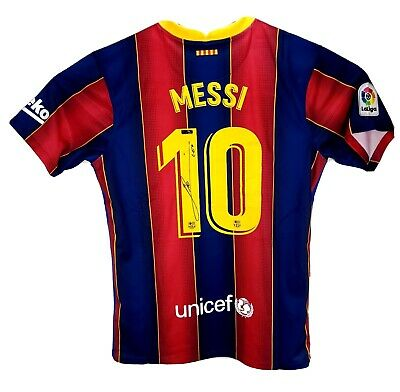 £732.21 • Buy Lionel Leo Messi Hand Signed Autographed Barcelona Football Soccer Jersey COA