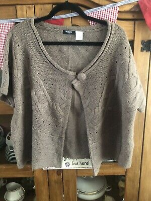 £0.99 • Buy Brown Shrug/cardigan In Taupe Size 22