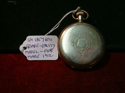 £20 • Buy 1912 Waltham Gents Full Hunter Pocket Watch . Rolled Gold Case . Grade Equity