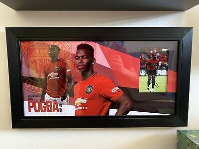 £99.99 • Buy Paul Pogba Authentic Hand Signed Picture Display Manchester United Including COA