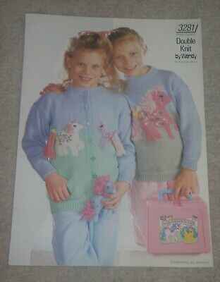 £0.99 • Buy My Little Pony Children's Sweater And Cardigan Knitting Pattern 3281