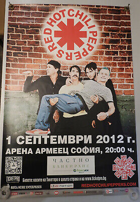 $18 • Buy RED HOT CHILI PEPPERS 2012 Sofia Concert I'm With You World Tour Poster 38 X26
