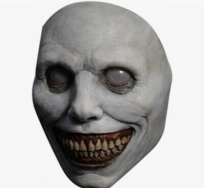 £12.99 • Buy Halloween Creepy Cadaverous Mask Smiling Demons The Evil Cosplay Scary Props