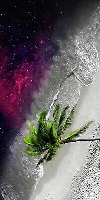 £36.99 • Buy Abstract Palm Tree Space Stars Ocean Beach Waves Wall Art Picture Large Print