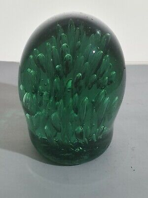 £20 • Buy Victorian Bottle Green Glass Dump Paperweight With Internal Bubbles
