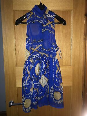 £0.99 • Buy Heart And Bows Blue Dress Size 10