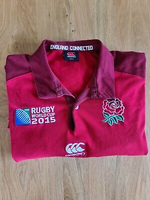 £2.50 • Buy Mens England Rugby Shirt Large 2015 World Cup