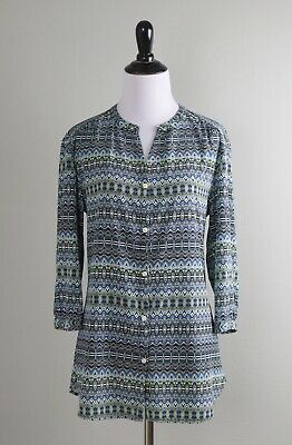 £25.41 • Buy COOLIBAR $89 Mosaic Sun Protection 3/4 Sleeve Button Up Shirt Top Size Small