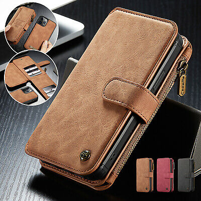 AU14.69 • Buy For IPhone 13 12 11 Pro Max XS XR Multi-Card Case Removable Leather Wallet Flip