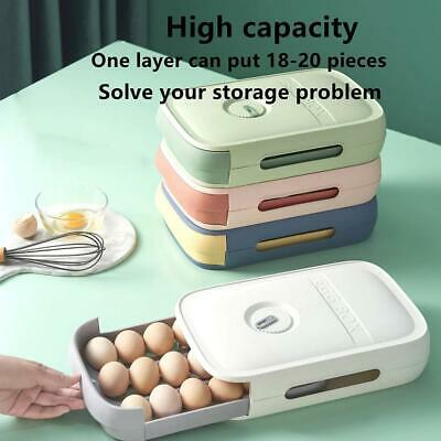 £6.56 • Buy Drawer Type Eggs Tray Fruit Storage Box Kitchen Stacking Holder  Container