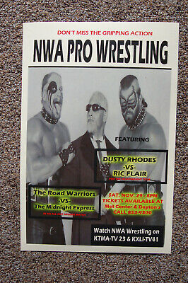 £3.64 • Buy The Road Warriors Vs The Midnight Express  Poster 1986 Dusty Rhodes Vs Ric Flair