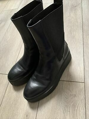 £14 • Buy New Zara Platform/wedge Boots Size 6 Rrp £79 New For Autumn